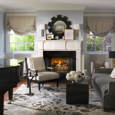 Beach Style Living Room by Burnham Design