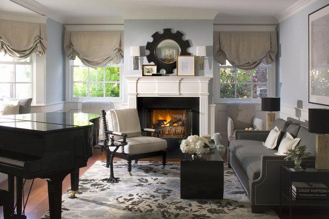 Traditional Living Room by Burnham Design