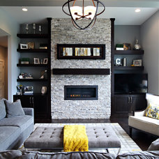 Transitional Living Room by State Street Interiors