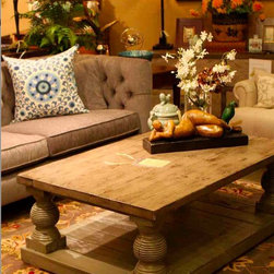 Beverly Coffee Table in Reclaimed Wood - Built in reclaimed wood