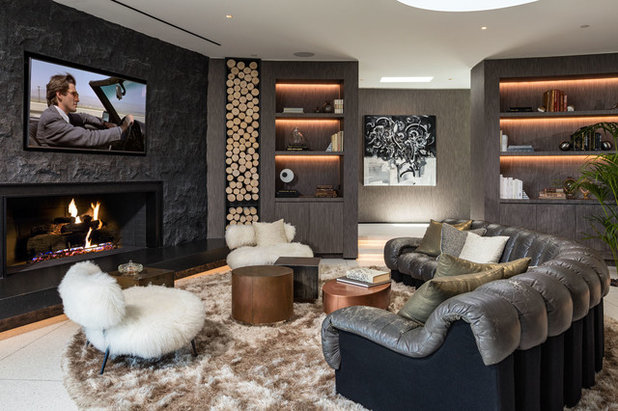 Contemporary Living Room by HSH Interiors