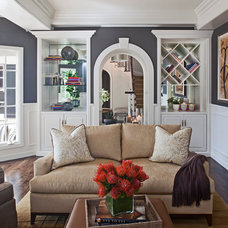 Transitional Living Room by Smith Firestone Associates