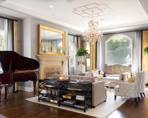 Chocolate And Gold Living Room Ideas & Photos | Houzz