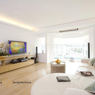 Inspiration for a modern living room remodel in Hong Kong
