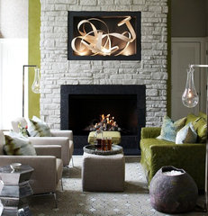 modern media room by Heather Garrett Design