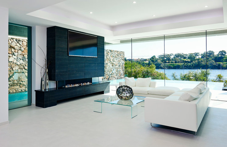 Contemporary Living Room by Bacic Group