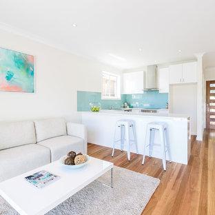 Coastal living room photo in Sydney