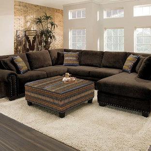 Living room - contemporary living room idea in Columbus