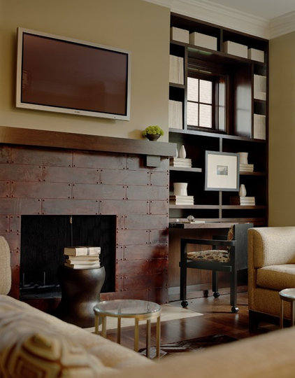 Eclectic Living Room by Dunlap Design Group, LLC