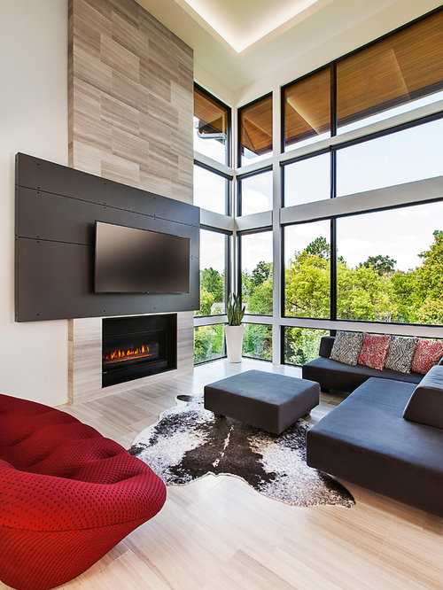 extraordinary houzz contemporary living room | Living Room Design Ideas, Remodels & Photos with a Wall ...