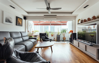 Houzz Tour: Old Meets New in This Asian-Inspired HDB Maisonette