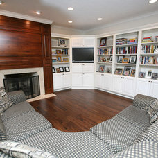 Traditional Living Room by Case Design & Remodeling Indy