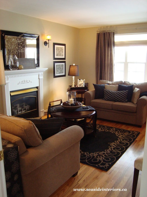 Black and tan houzz - Tan living room ideas ...