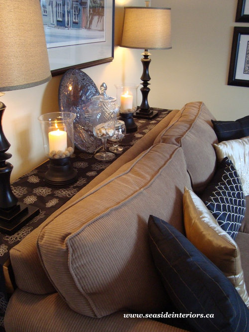 Wall Table Behind Couch Houzz