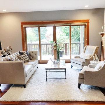 Black and White Elegant Living Room