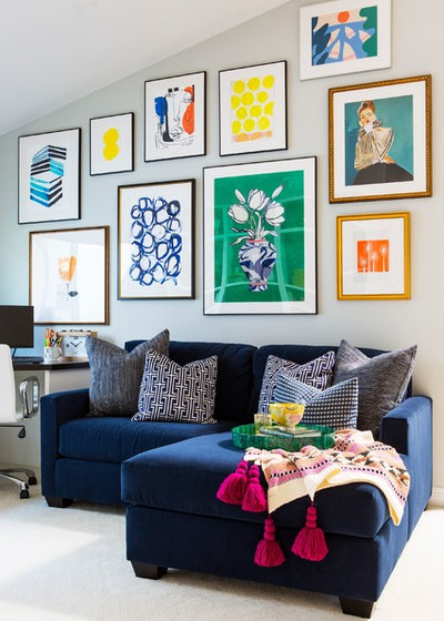 Eclectic Living Room by Jennifer Grey Interiors Design & Color Specialist