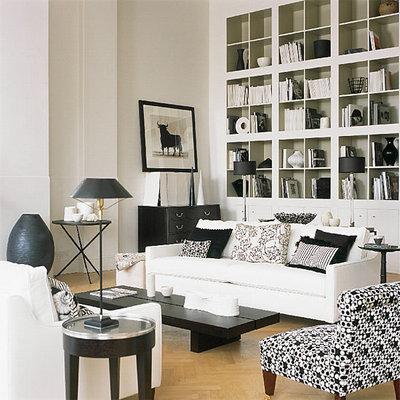 Contemporary Living Room Black & White living  room