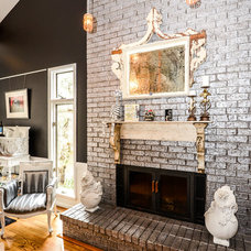 Eclectic Living Room by Robin Hiken Interiors