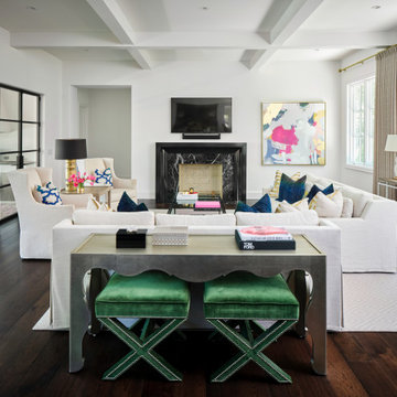 Black Cabinets and White Spaces in Alamo Heights