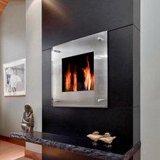 Modern Living Room by Morningstar Stone & Tile
