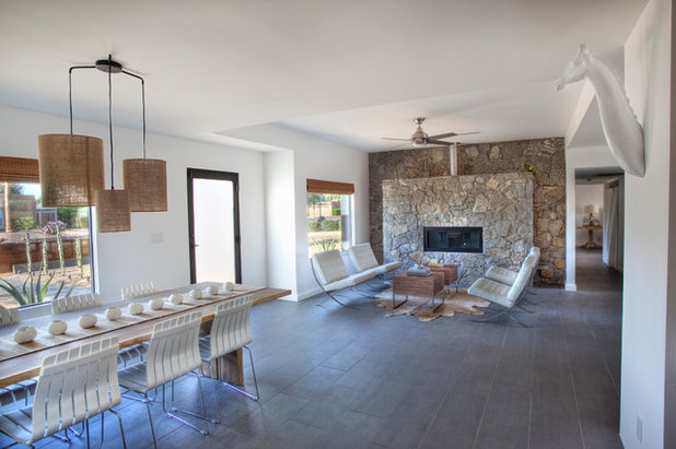 Southwestern Living Room by Spry Architecture