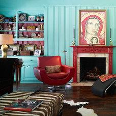Eclectic Living Room Black/Karlisch Living area