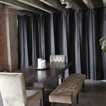 Black Loft Style Room Divider Kit
