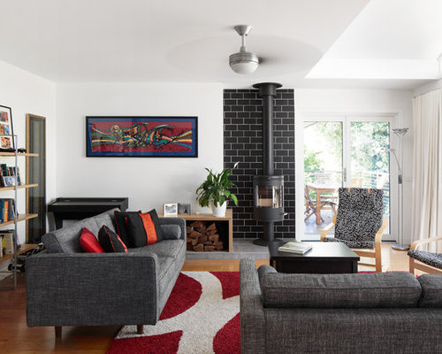 Photo Of An Eclectic Formal Enclosed Living Room In Canberra   Queanbeyan  With White Walls,