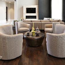 Modern Living Room by Kristen Brooksby Interior Design