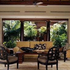Asian Living Room by Wheeler Design Group