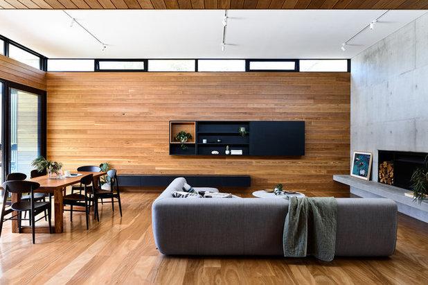 Contemporary Living Room by POWDA CON