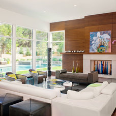 Contemporary Living Room by LaRue Architects