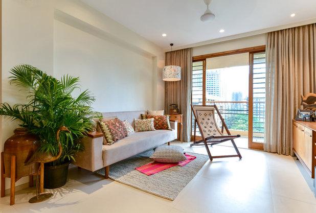 Asian Living Room by Studio Nishita Kamdar