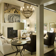 Transitional Living Room by DHR Architecture