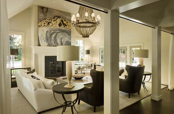 Transitional Living Room by Ruggles Mabe Terrell
