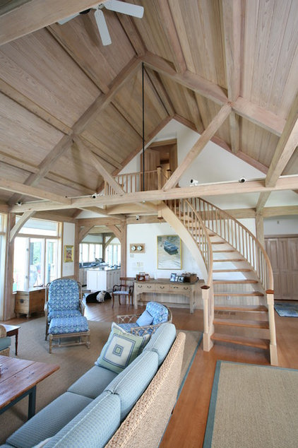 Traditional Living Room by South County Post & Beam, Inc.