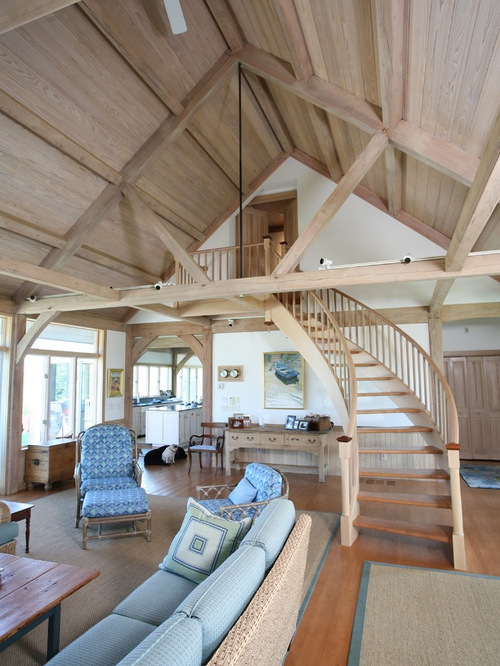 Pickled Wood Ceiling Houzz