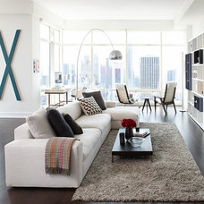 Contemporary Living Room by Tara Benet Design
