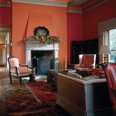 Mediterranean Living Room by Erotas Building Corporation
