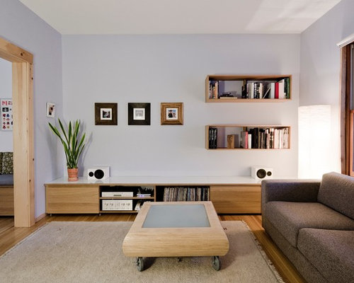 Inspiration For A Modern Living Room Remodel In Toronto With Gray Walls Part 93