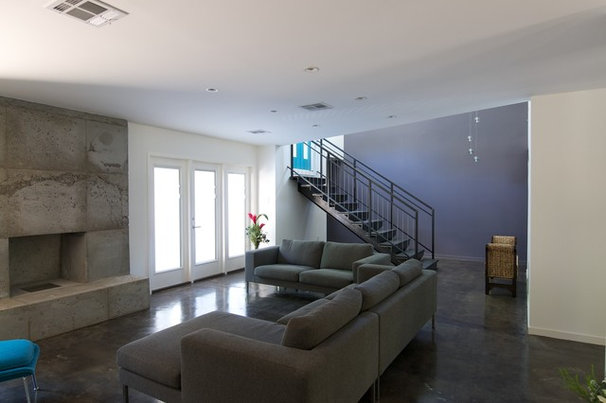 Contemporary Living Room by Built Incorporated