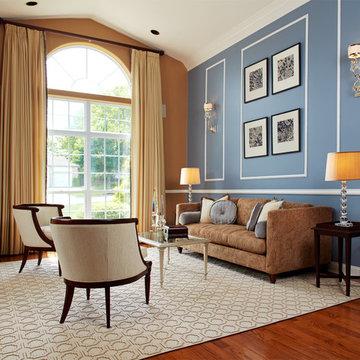 Blue & Gold Living Room