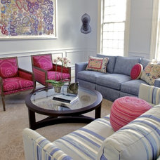 Eclectic Living Room by Alexandra Torre Design & Interiors
