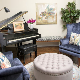 Blue and White Entry, Dining Room & Piano Room