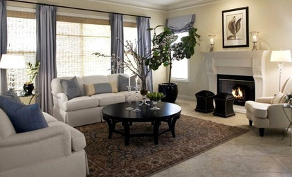 Traditional Living Room by M. Roy Interior Design