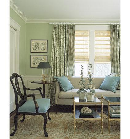 Traditional Living Room Blue Green Livingroom