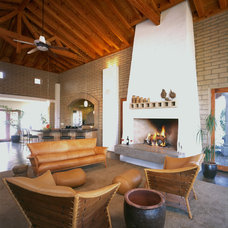 Southwestern Living Room by Silva Studios Architecture