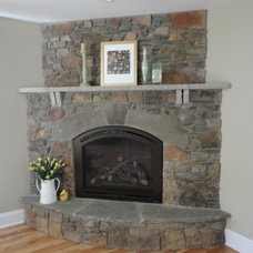 Traditional Living Room by Peterson Masonry Design