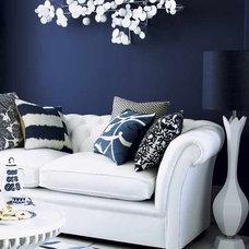 Modern Living Room Blue wall