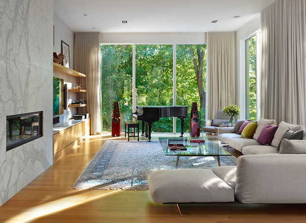Contemporary Living Room by Richard Librach Architect Inc.